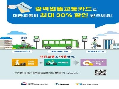 교통비 최대 30% 절감하는 광역알뜰교통카드 본격 시행